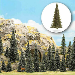 "Busch HO 6472 Package of 60 fir trees 2-5"" Tall N/HO scale"
