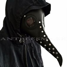 Black Leather Doctor Plague Bird Long Nose Halloween Steampunk Cosplay Mask