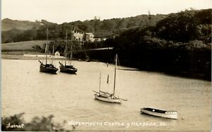 Postcard Ilfracombe Devon the Watermouth Castle and Harbour early RP Garratt 80