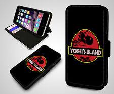 Yoshi's Island Yoshi Super Mario Nintendo Jurassic Billetera Abatible Cubierta Estuche Teléfono
