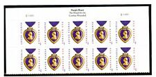 US 4704a Purple Heart 45c - Forever Top Plate Block of 10 - C11111111 - 2012 YD
