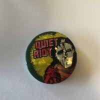 Quiet Riot 80s Pinback Button Badge Pin Prismatic Holo Hologram Lithograph 31