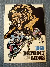 Detroit Lions~1968 Official Press, Radio and Tv Guide~80 Page~(Ex)~Nfl