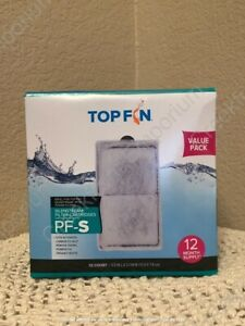TOP FIN PF-S SILENSTREAM FILTER CARTRIDGES ~ 12 Count/Box ~ Free Shipping