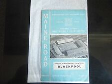 MANCHESTER CITY v Blackpool 1966/67 Season