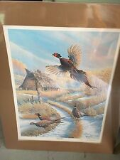 Backyard Birds  By Keith Warrick Print Matted and Signed Edition #1701 / 3000