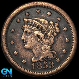 1853 Braided Hair Large Cent --  MAKE US AN OFFER!  #K8813