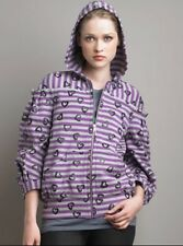 Authentic NEW by MARC JACOBS Fleece JACKET XS/0 Love Heart Purple Striped Hoodie