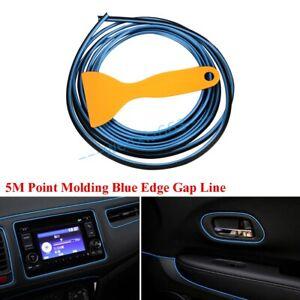 Universal Blue Edge Gap Line Car Interior Accessories Molding Garnish 5M set UK