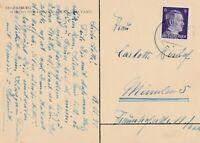 Historische Ansichtskarte Jahr 1941 verschickt von Regensburg nach München