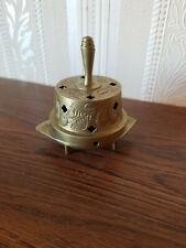 Vtg Brass Incense Burner with Bell - Sarnabrass, India 332T