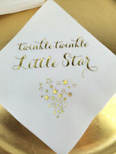 Twinkle Twinkle Little Star Napkins Metallic Gold Foil SHIP in 24 HOURS or less!