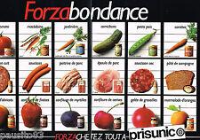 PUBLICITE ADVERTISING 075  1981  PRISUNIC  les aliments FORZA  ( 2 pages)