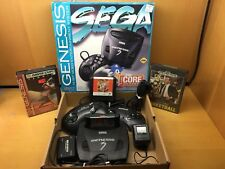 Sega Genesis Model 3 Complete in Box CIB Core System Console w/ 4 Games, Tested!