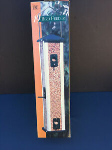 Wild Bird Feeder Seed Hanging Tube Outdoor New  As - Is Missing Hanger