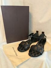 NEW IN BOX Louis Vuitton Brown Monogram REVIVAL FLAT Sandals Shoes 37.5, 7, 7.5