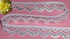 """Lace Trim Silver 12 Yards x 3/4"""" CLOSEOUT Doll Lace M54V Added Trims ShipFree"""