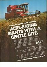 Original 1979 Massey Ferguson Combine Magazine Ad