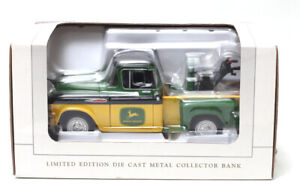 John Deere Limited Edition Die Cast Metal Collector Bank Truck 1957 Chevy