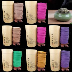 120pcs/box Buddha Incense Natural Spiral Coil Incense Fragrance Indoor Aroma
