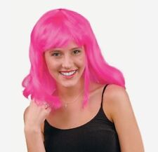 Synthetic Neon Pageboy Wig - Pink