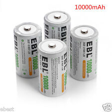 4 pcs D Size 10000mAh 1.2V Ni-MH Rechargeable Battery Cell Ultracell USA Stock