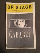 Cabaret Roundabout Theatre Company On Stage/Playbill