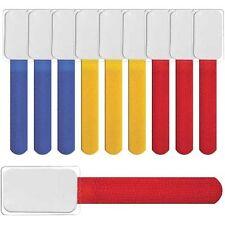 Klettbinder mit Beschriftungstafeln 10x Set farbmix