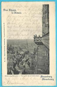 Strassburg/ Elsass: Blick von Münster! Stempel 30.7.1898 nach Hamm/ Westf.!