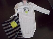 "Carter's Baby 2 Piece Boys ""Monstrously Cute"" Set Size 9 Months NWT"