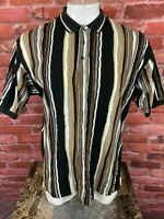 Vintage Cotton Traders Sport Coogi Style Cosby Hip Hop Polo Style Shirt XL F311