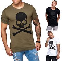 Herren T-Shirt Poloshirt Shirt Kurzarm Skull Printshirt Kurzarm 17083 John Kayna