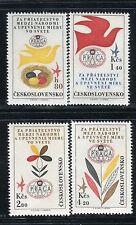 CZECHOSLOVAKIA 1962 STAMPS WORLD EXHIB/DOVE/NEST/EGGS/FLOWER/PETALS/LEAVES/PLANT