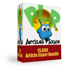 15,000 Private Label Rights (PLR) Top Articles; Provide Content On Internet (CD)