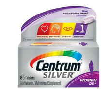 Centrum Silver Multivitamin Supplement, Women 50+, 65 Tablets