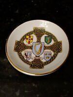 "IRISH ARKLOW HISTORIC FAMILY CRESTS VINTAGE 3 1/2"" PLATE Trinket dish"