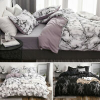 Marble Reversible Duvet Cover Set Quilt Cover Bedding Set Pillowcases All Size