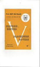 FA Cup Home Teams O-R Oxford United Football Programmes