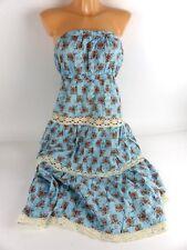 ZIMMERMANN Damen Kleid Sommerkleid geblümt schulterfrei hellblau Gr. 2 / 38