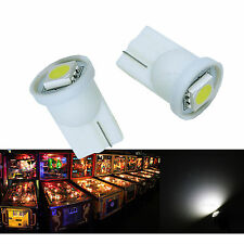 50x #555 T10 1 SMD 5050 LED Pinball Machine Light Bulb White AC/ DC 6.3V P2