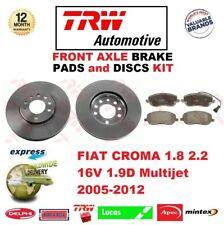 Para Fiat Croma 1.8 2.2 16V 1.9D Multijet 2005-2012 Eje Delantero Pastillas de
