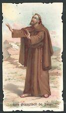 Estampa antigua de San Francisco de Asis andachtsbild santino holy card santini