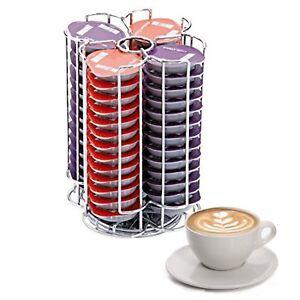 Tassimo Pod Holder 56 Coffee Capsules Stand Rotating coffee pod storage stand