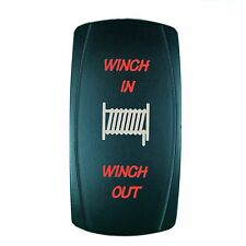 Laser  Rocker Switch MOMENTARY Push Button RED LED WINCH IN/OUT (ON)-OFF-(ON)