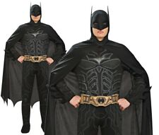 Adult BATMAN Dark Knight Fancy Dress Costume Mens Stag Party Outfit Licensed