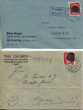 Local/sächs. Noir. AP 827 i jamais sur 2 lettres de Annaberg ou pirna (b05269)
