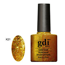 UK SELLER Gdi Nails DIAMOND K21 Golden Cleopatra GLITTERS UV/LED Soak Off GEL