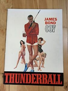 James Bond Thunderball 1965 Souvenir Movie Program Sean Connery 007