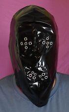 Vollmaske Gesichtsschutz Maske PVC black Neu Diargh