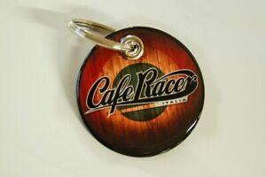 Key Chain Resina Compatible Con Moto - Adhesivos Estilo Cafe Racer Vintage